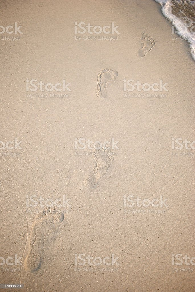 Footprints to the Surf stock photo