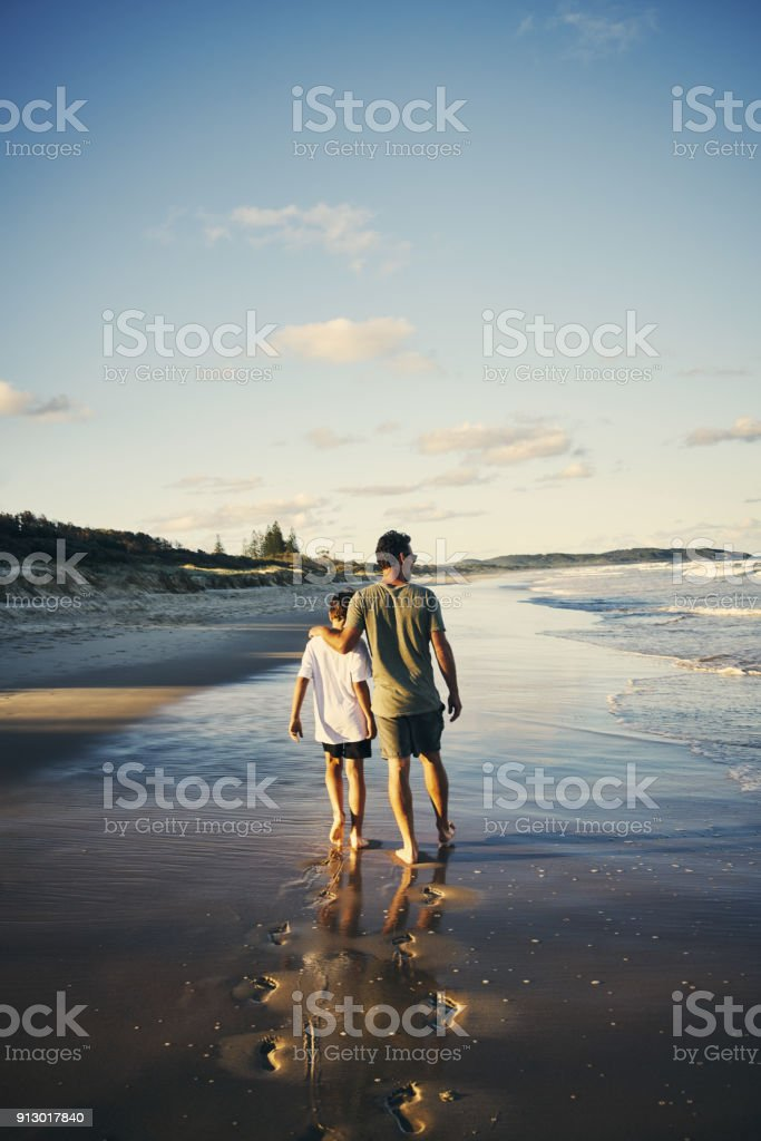 Footprints will be washed away, memories are here to stay stock photo