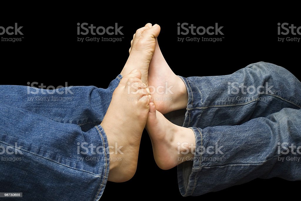 Footsie royalty-free stock photo
