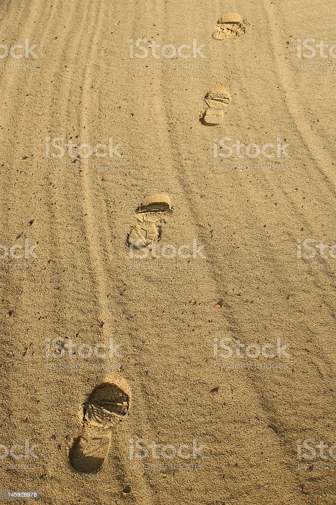 footsteps royalty-free stock photo