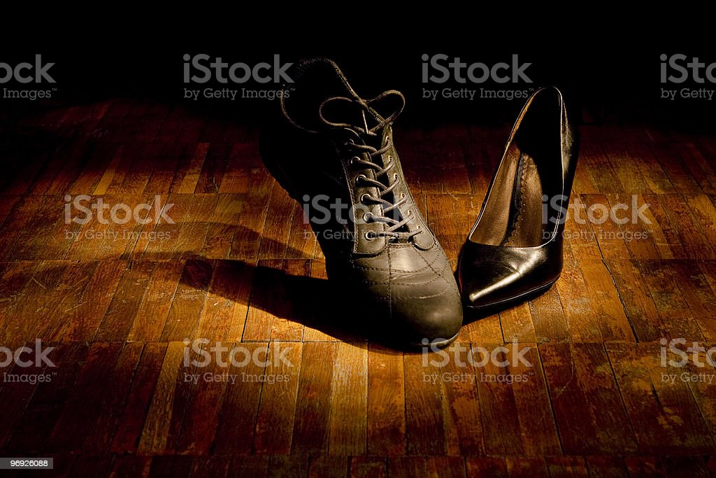 Footwear dance: love royalty-free stock photo