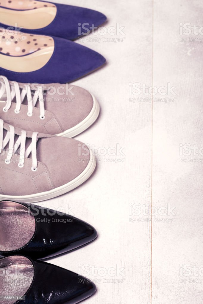 footwear fashion Shoes and comfort Sneakers 免版稅 stock photo