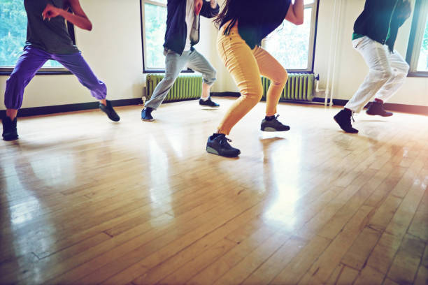 for a fun workout, dance it out - dance class stock photos and pictures