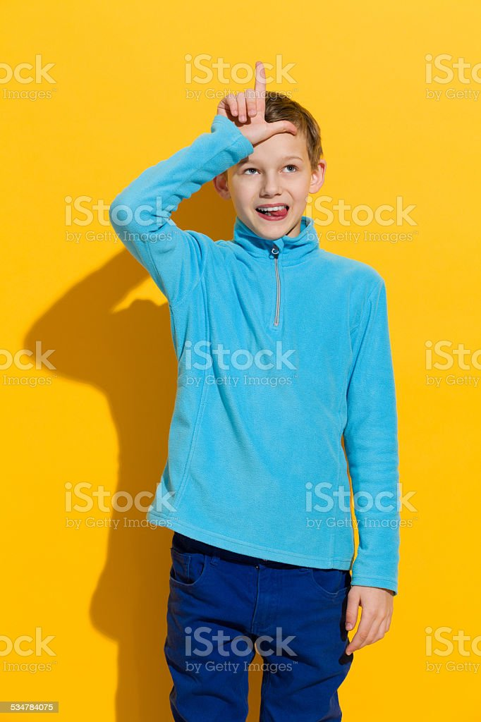 L for a looser stock photo