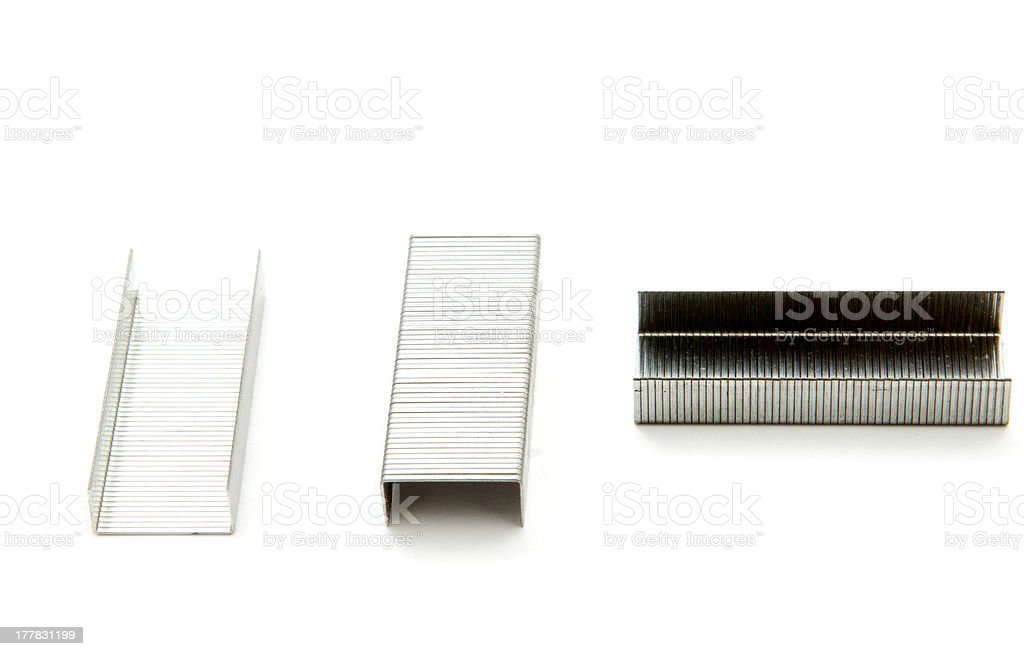 For a stapler isolated royalty-free stock photo