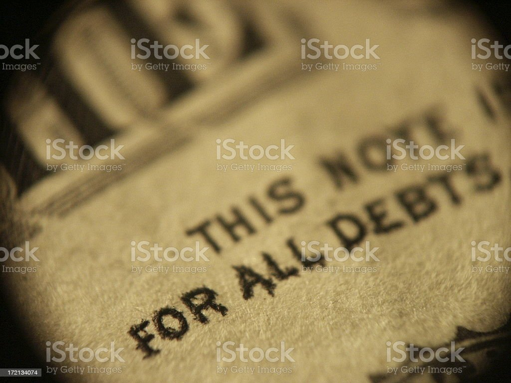 For All Debts royalty-free stock photo