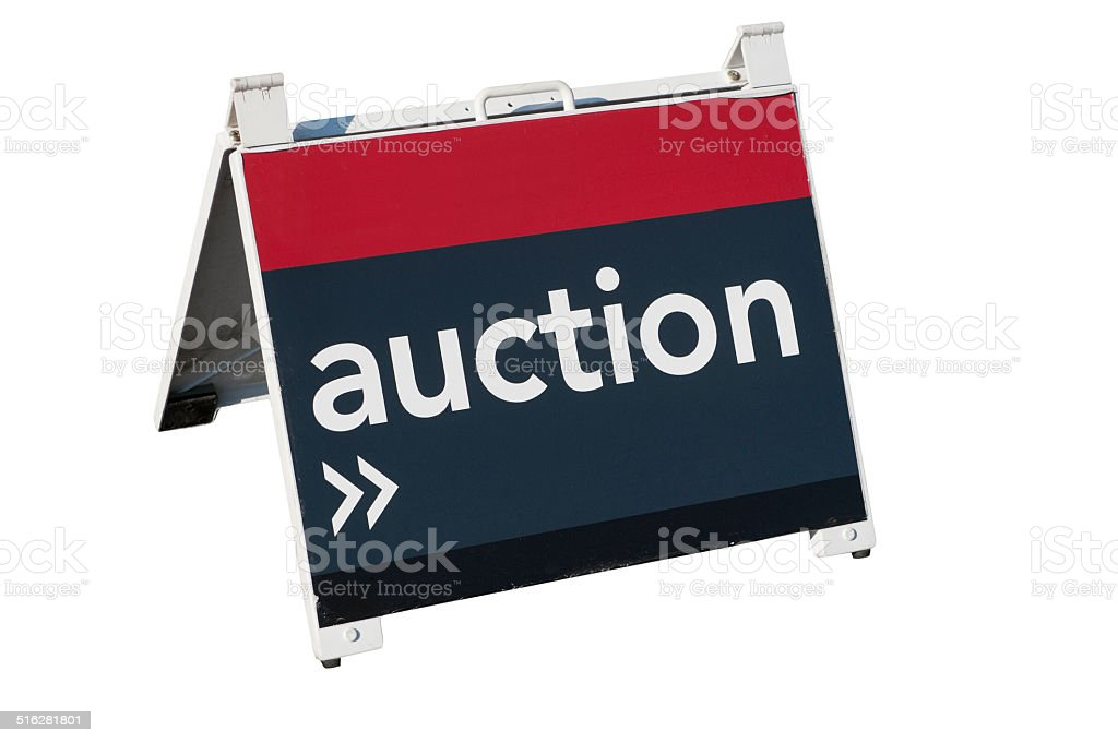 For Auction stock photo