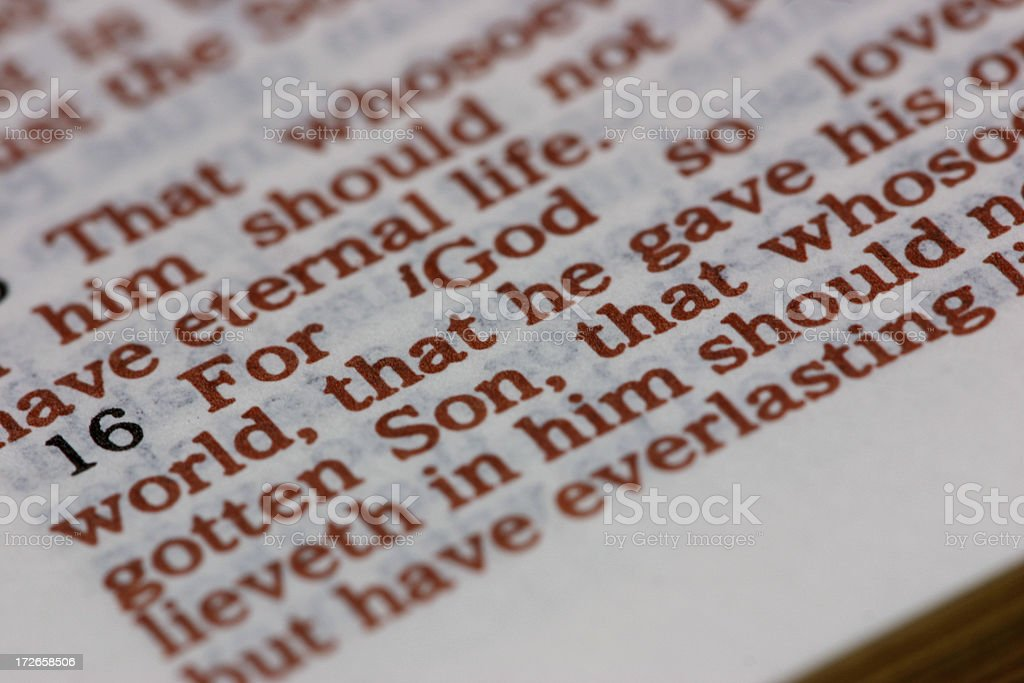For God so loved .... royalty-free stock photo
