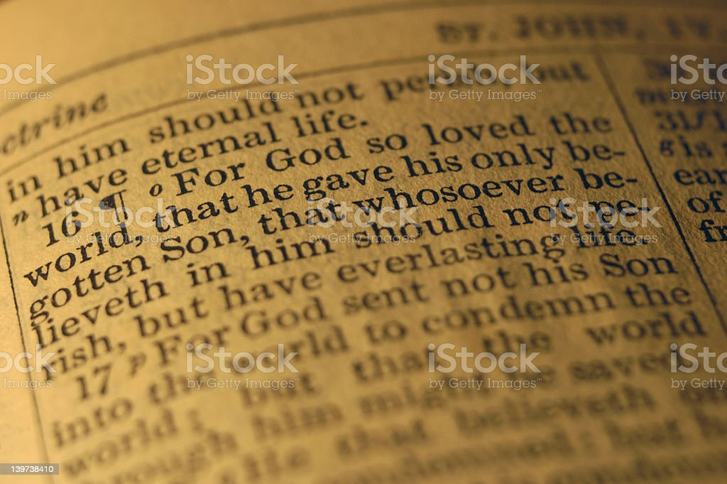 For God so loved the world ... stock photo