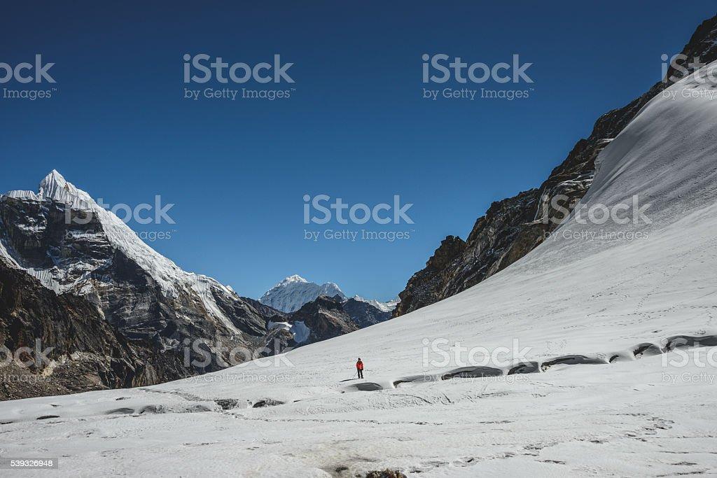 Cho La Pass stock photo