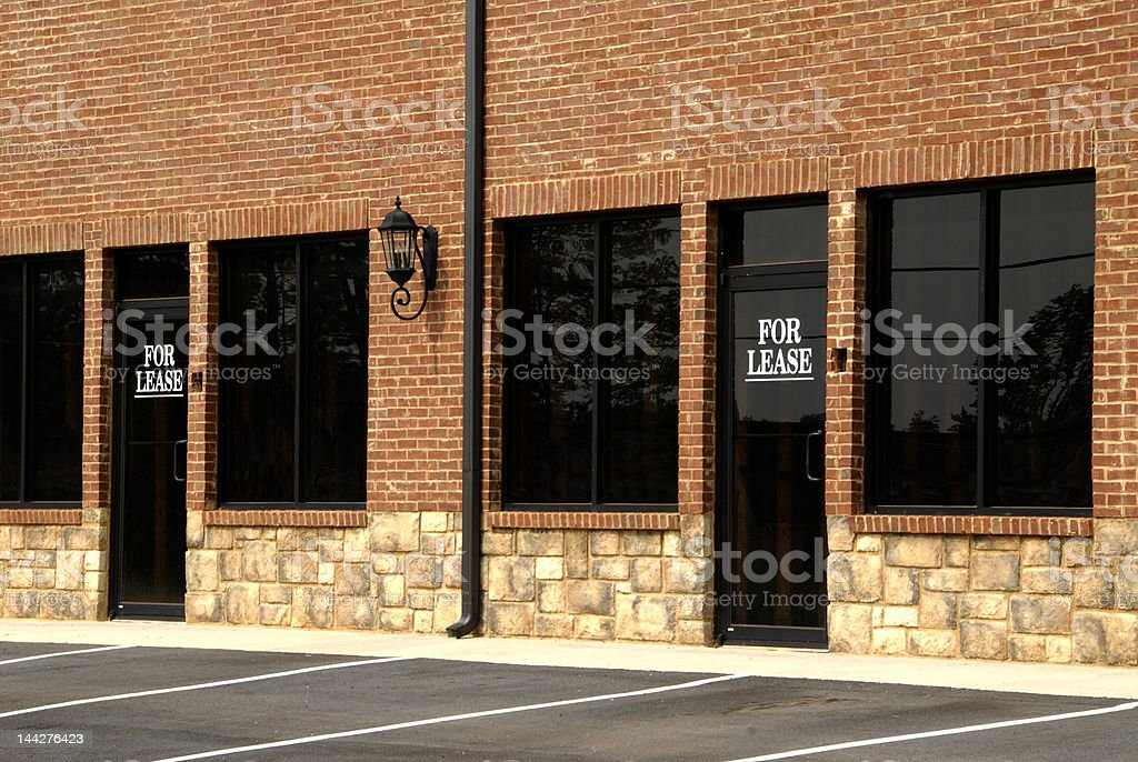 For Lease - Commercial Space stock photo