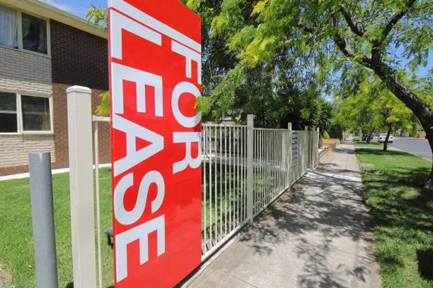 For lease real estate Melbourne Australia stock photo