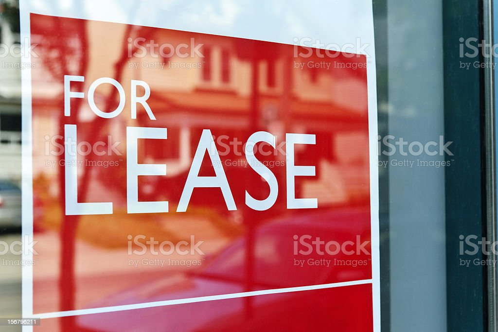 For lease sign stock photo
