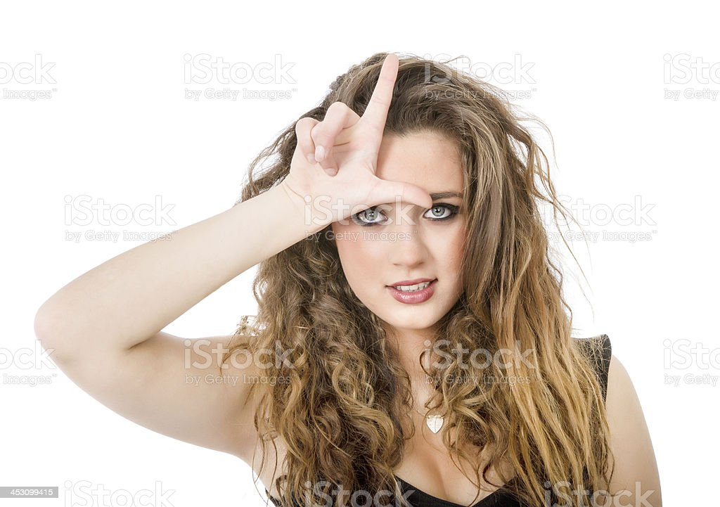 L for looser sign royalty-free stock photo
