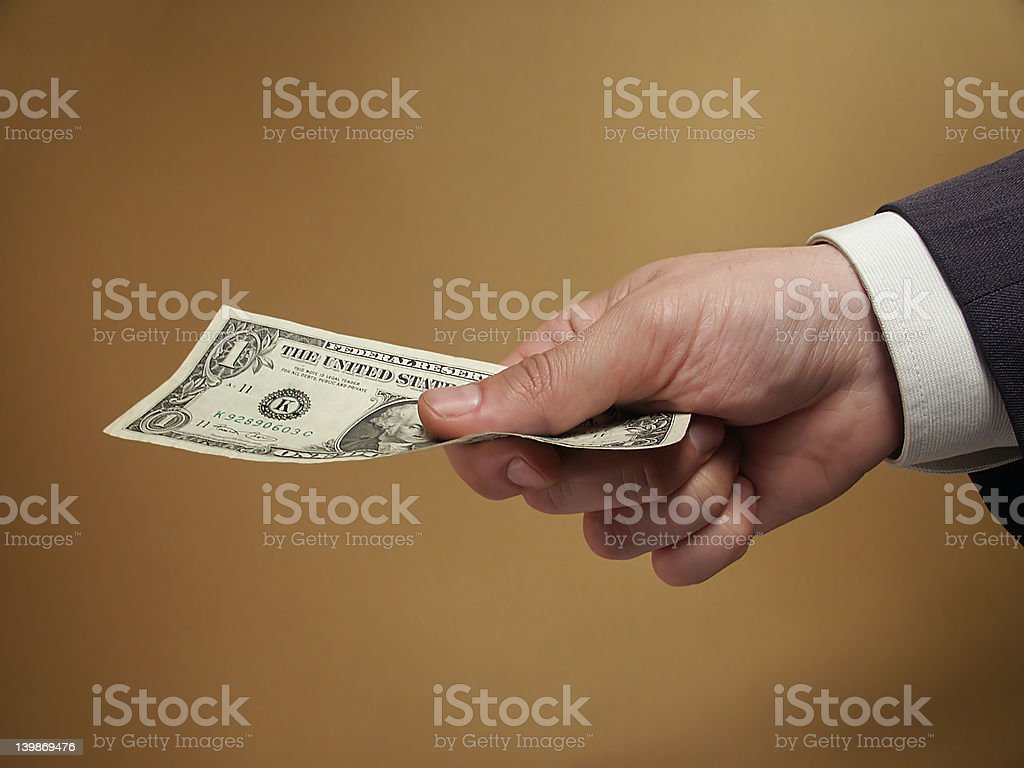 For one dollar royalty-free stock photo