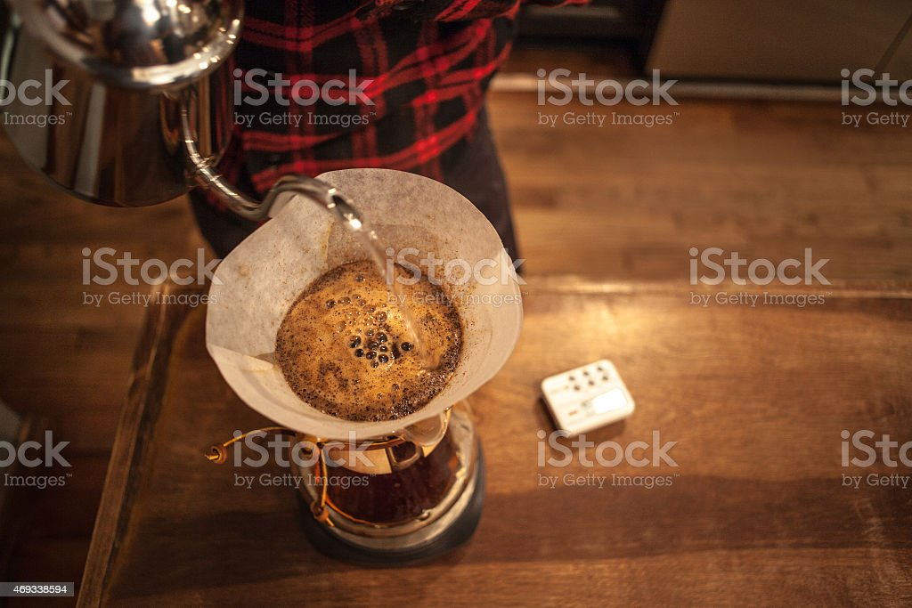 Pour Over. stock photo