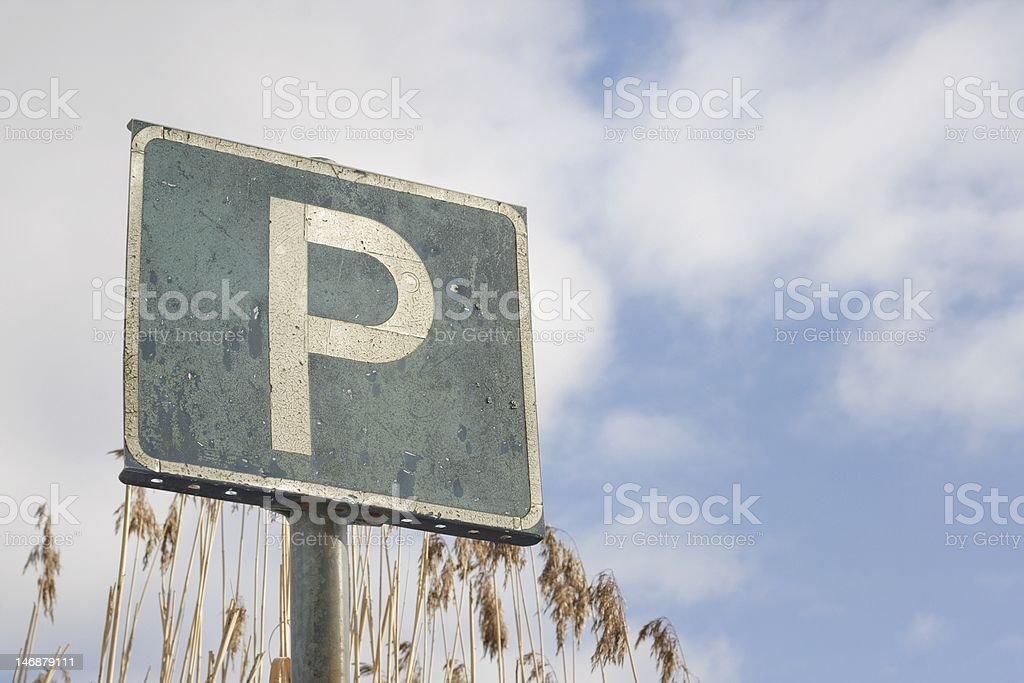 P for parking royalty-free stock photo