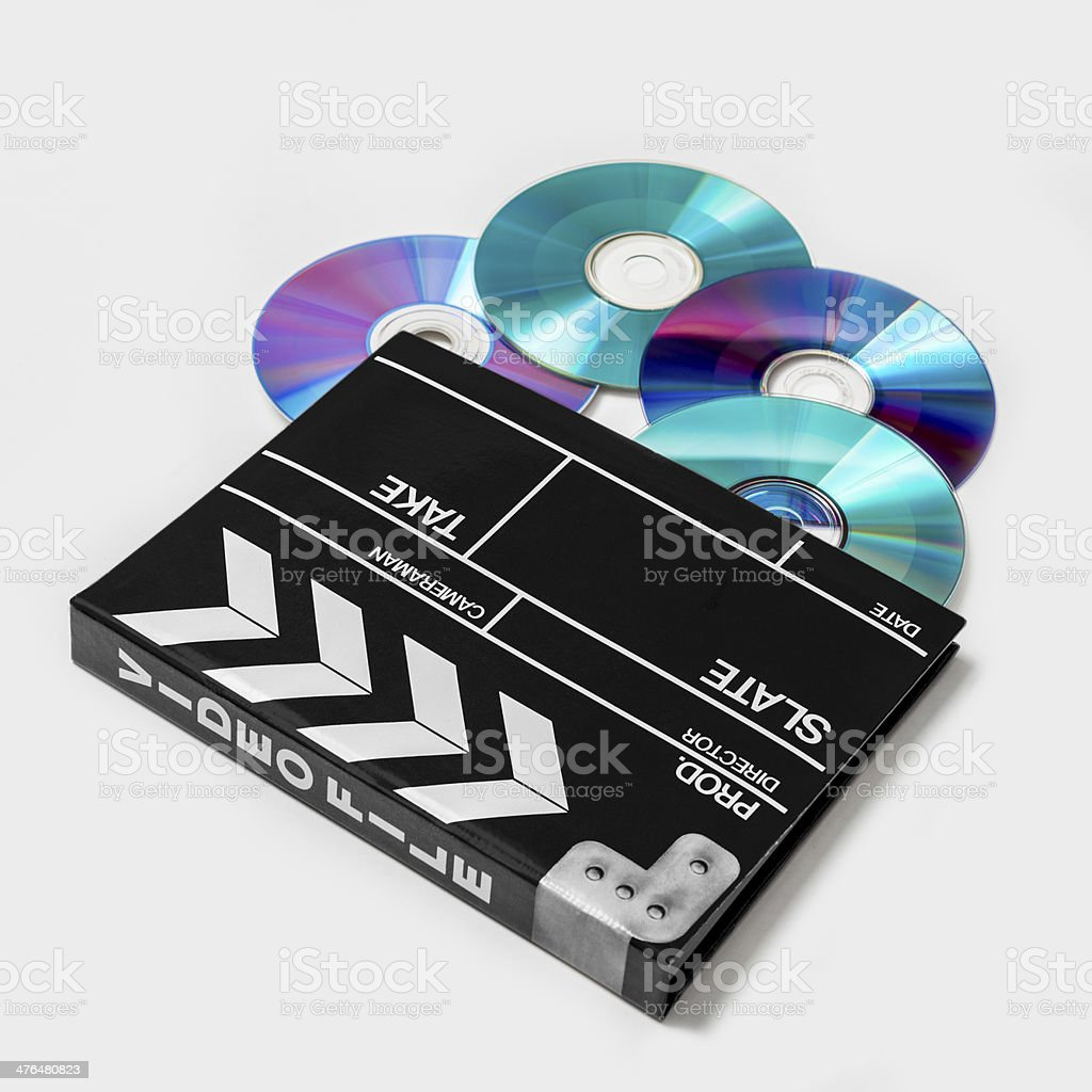 DVD-R for personal video stock photo