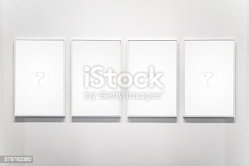 For White Plain Empty Picture Frame