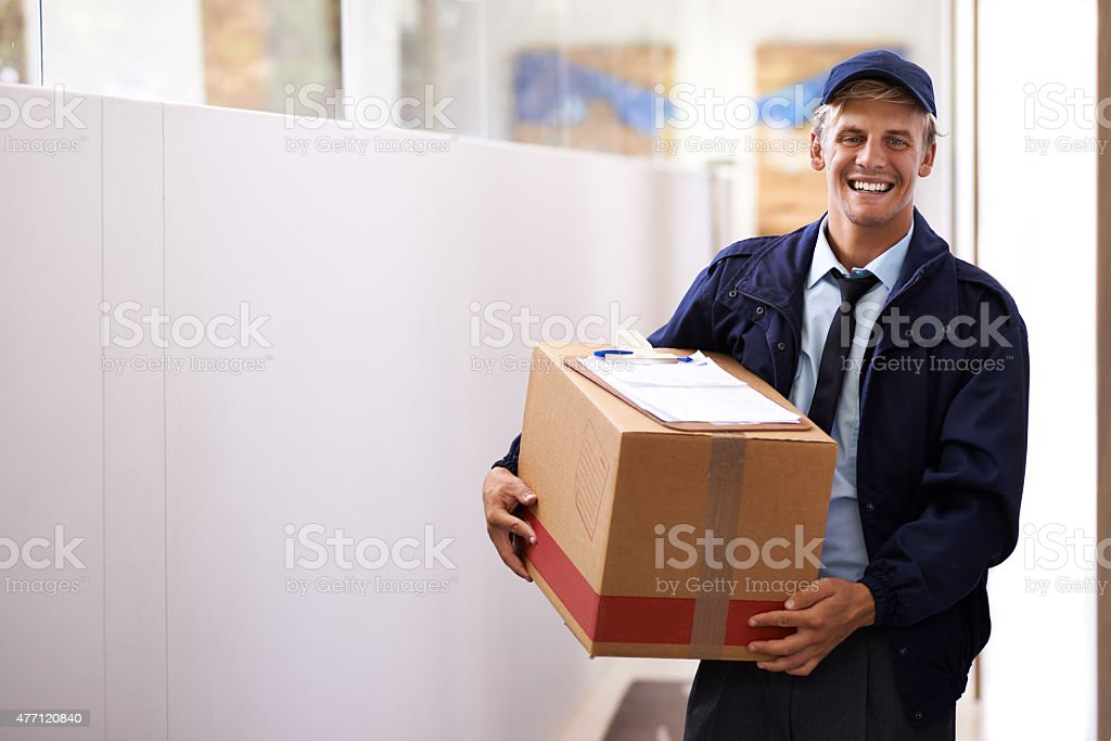 For reliable and reputable delivery I'm your guy stock photo