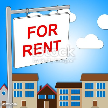 For Rent Meaning Signboard Rental And Habitation