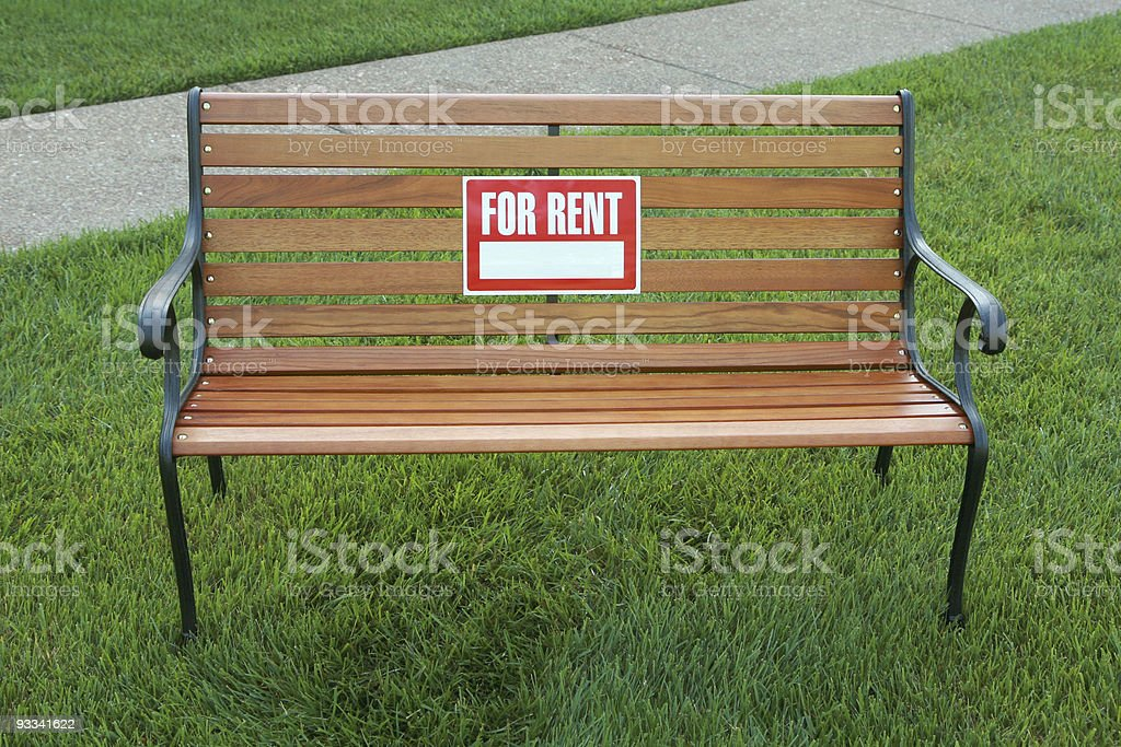 Terrific For Rent Sign On A Park Bench Stock Photo Download Image Gmtry Best Dining Table And Chair Ideas Images Gmtryco