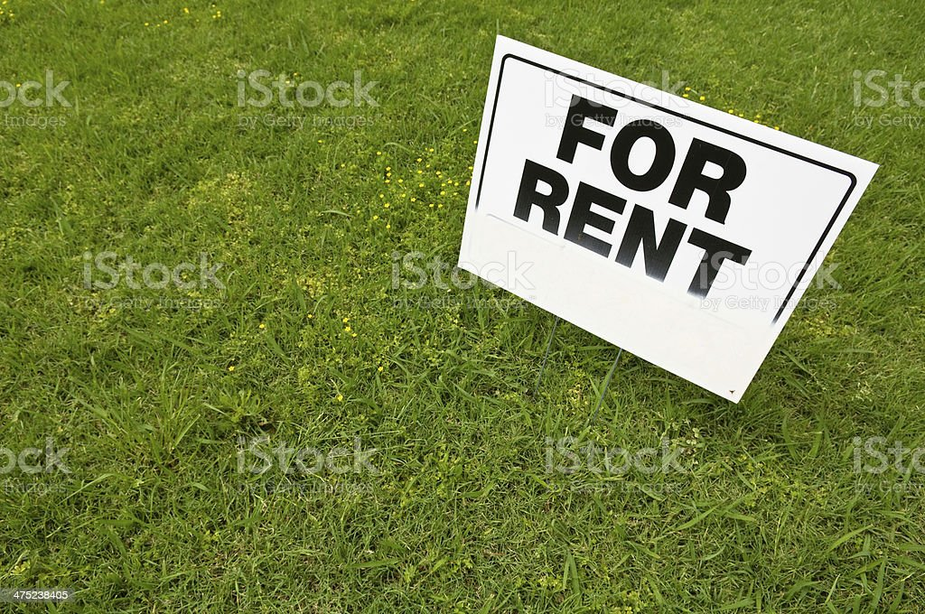 For Rent Sign stock photo