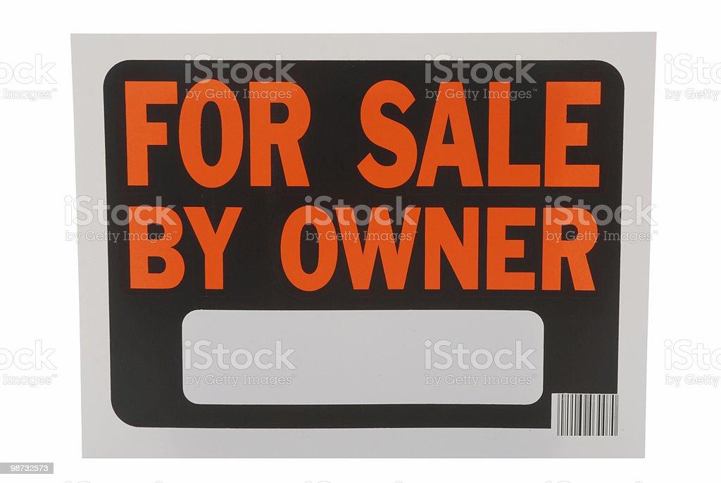 Para venda por Dono foto de stock royalty-free