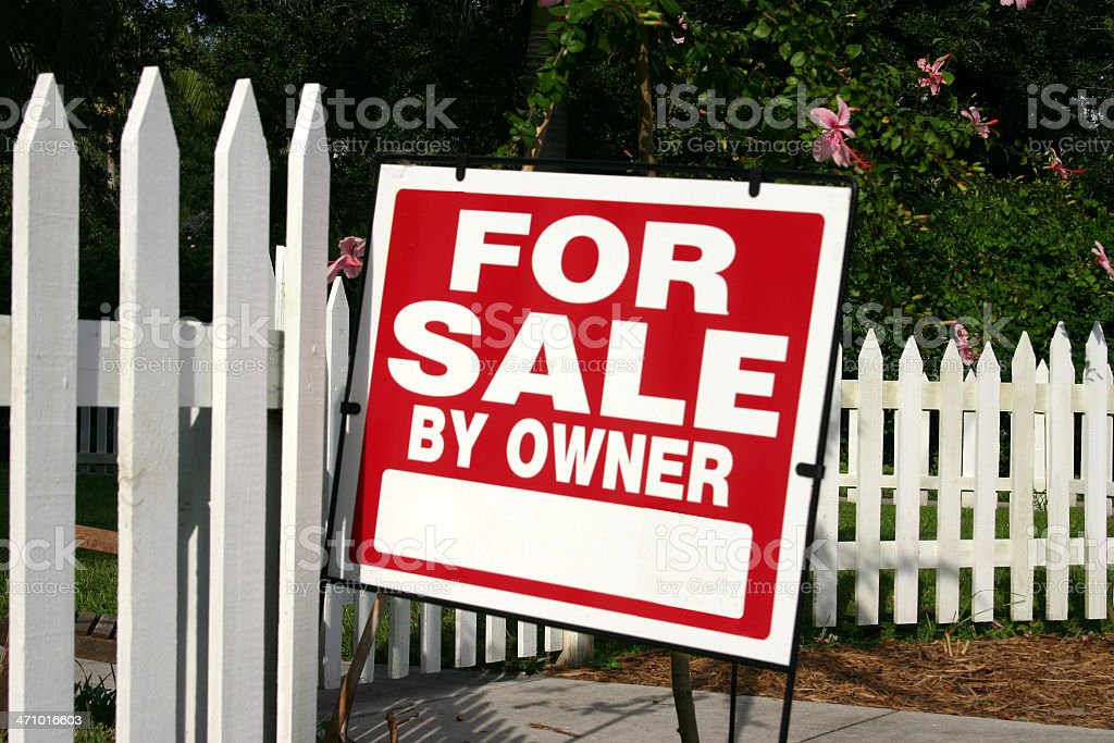 For Sale by Owner Sign royalty-free stock photo