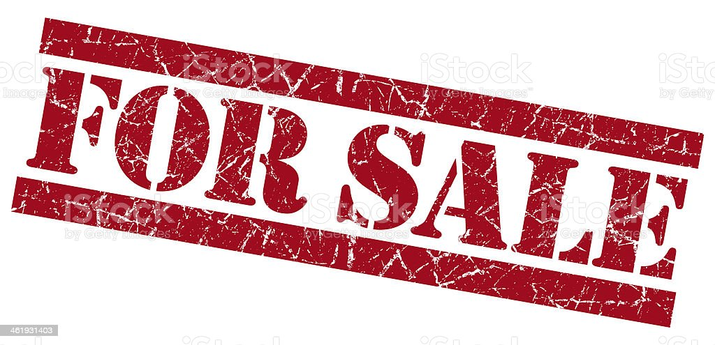 For sale grunge red stamp royalty-free stock photo