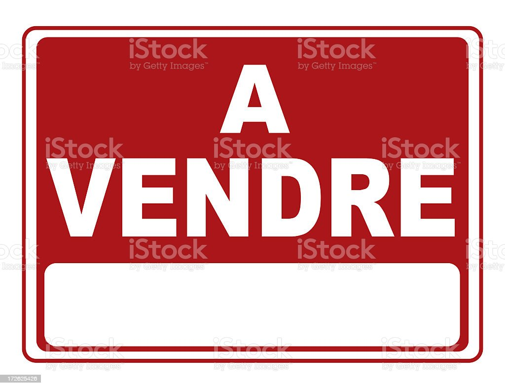 For sale in french royalty-free stock photo