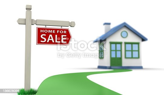 845555910 istock photo For Sale Sign & House 136628098