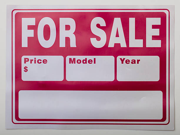 Car For Sale Sign Stock Photos Pictures Royalty Free Images Istock