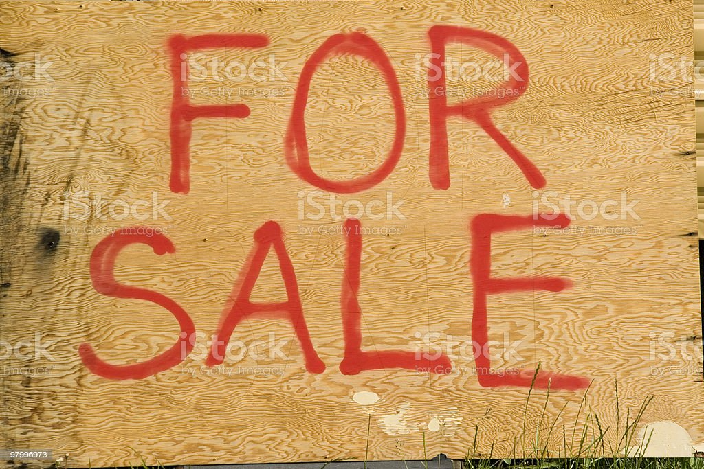 for sale sign royalty-free stock photo