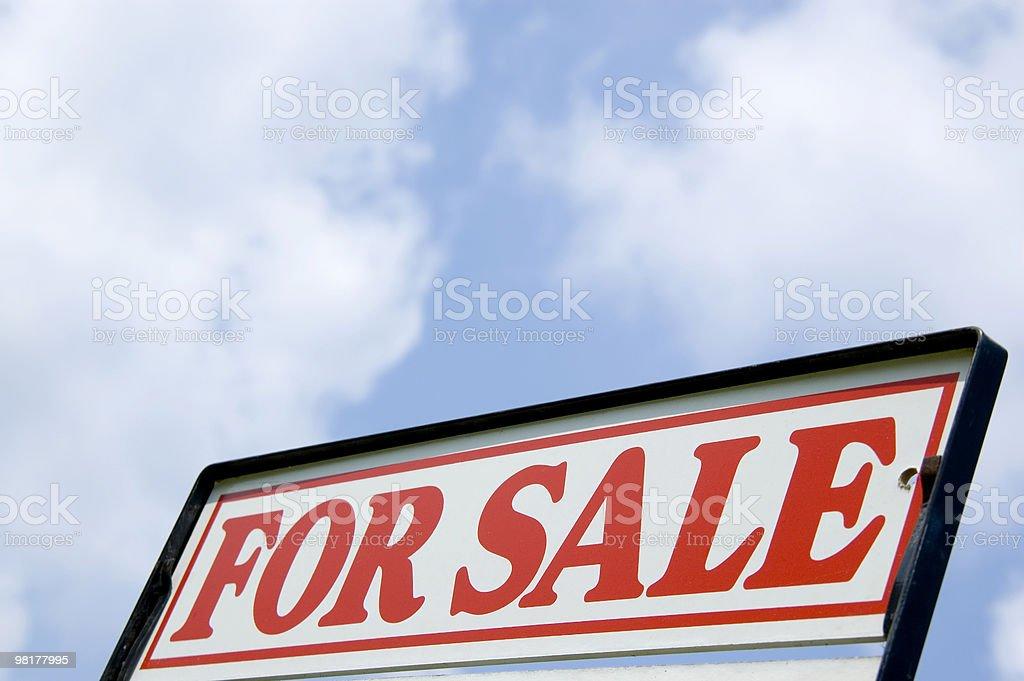 Cartello di proprietà in vendita foto stock royalty-free