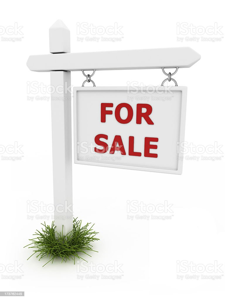 for sale whiteboard royalty-free stock photo