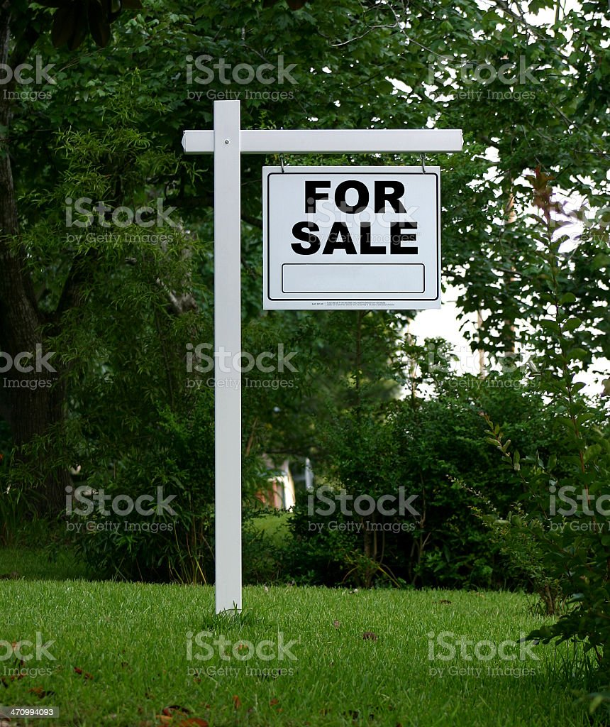 For Sale Yard Sign stock photo