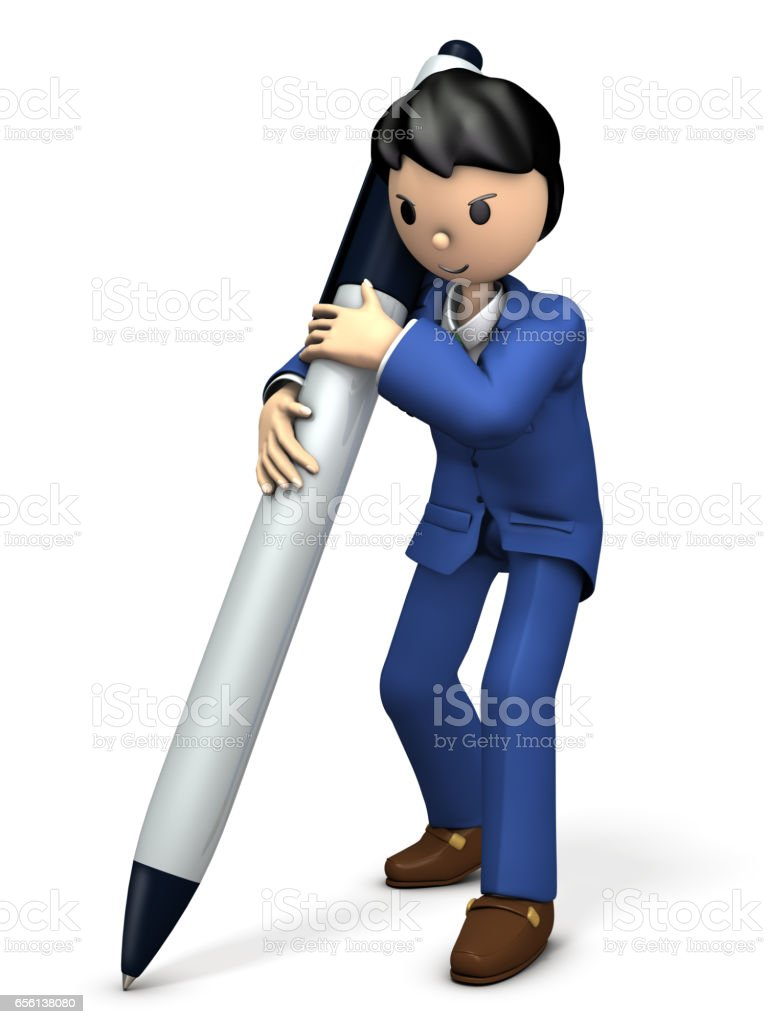 For that businessman it is a big contract. stock photo