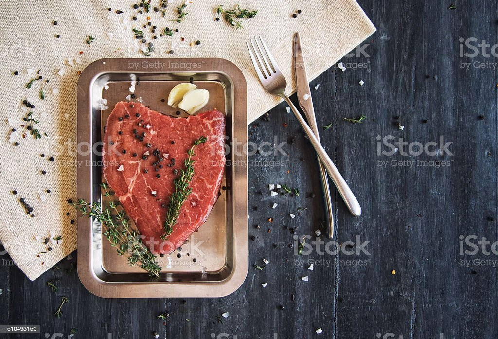 For the love of steak stock photo