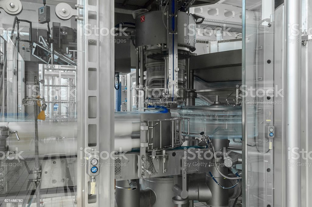 for the production of plastic bottles factory foto stock royalty-free