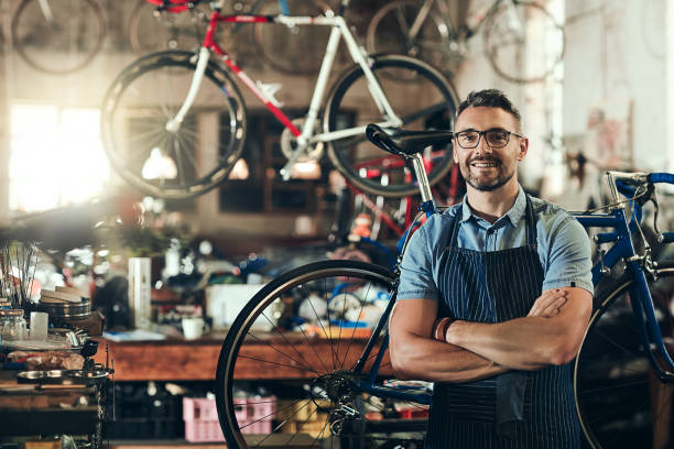 for trusted bicycle repair, i'm your guy - owner stock pictures, royalty-free photos & images