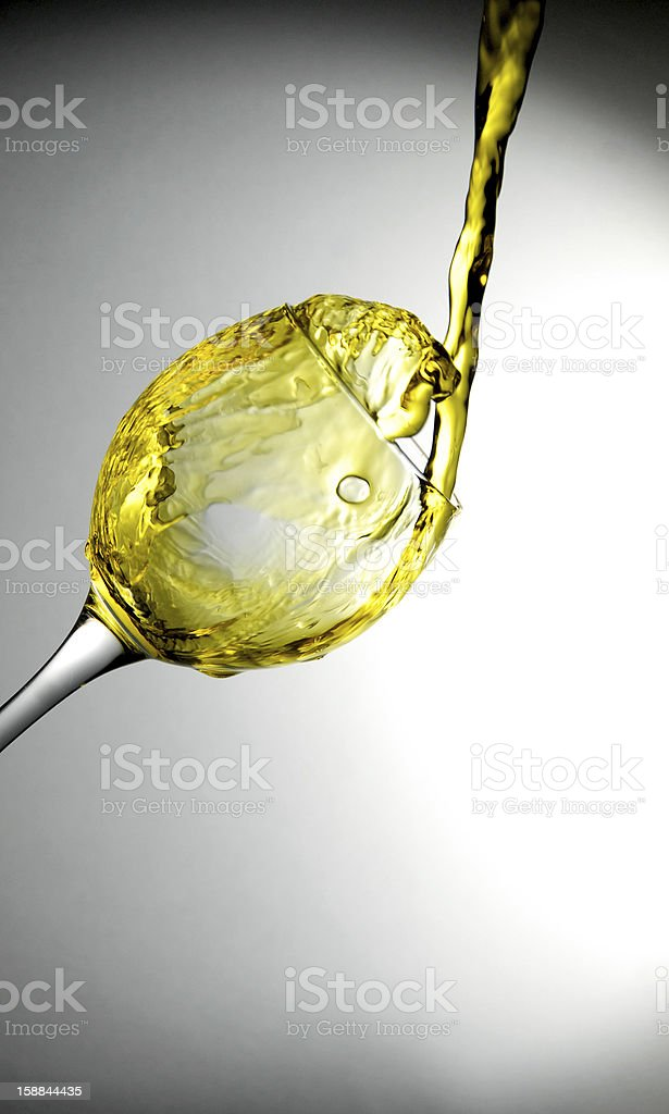 Pour water royalty-free stock photo