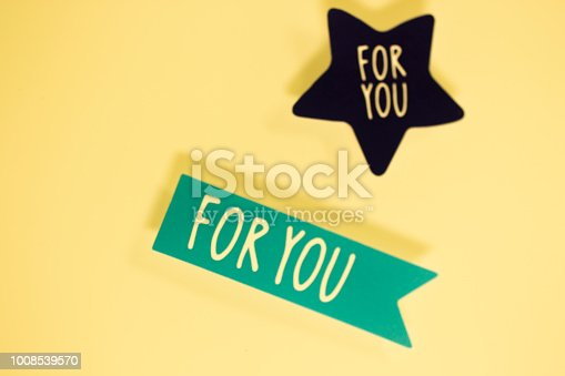 istock For you greetings message written in letters on presenta tag. 1008539570