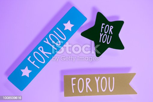 istock For you greetings message written in letters on presenta tag. 1008539616