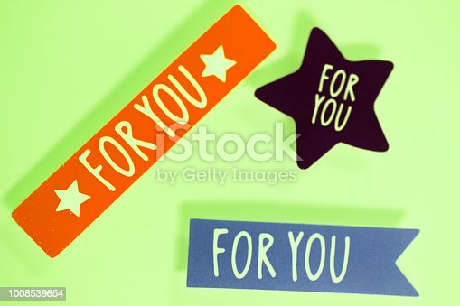 istock For you greetings message written in letters on presenta tag. 1008539654