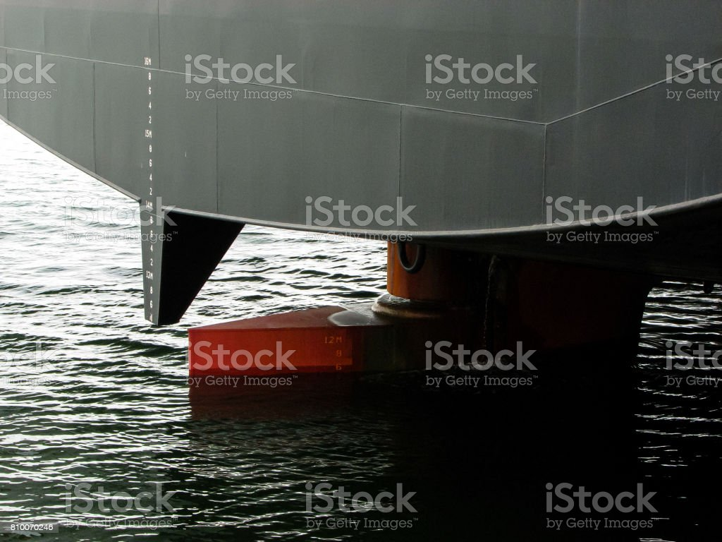 Forage of a merchant ship with keel stock photo