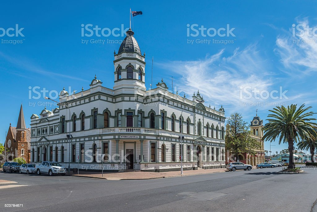 Forbes Town Hall, New South Wales, Australia stock photo