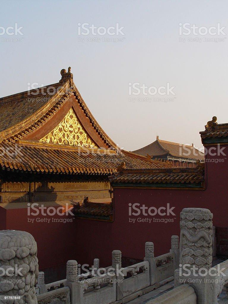 Forbidden City - Ancient Glow royalty-free stock photo