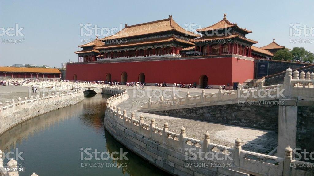 Forbidden city, Beijing, China stock photo