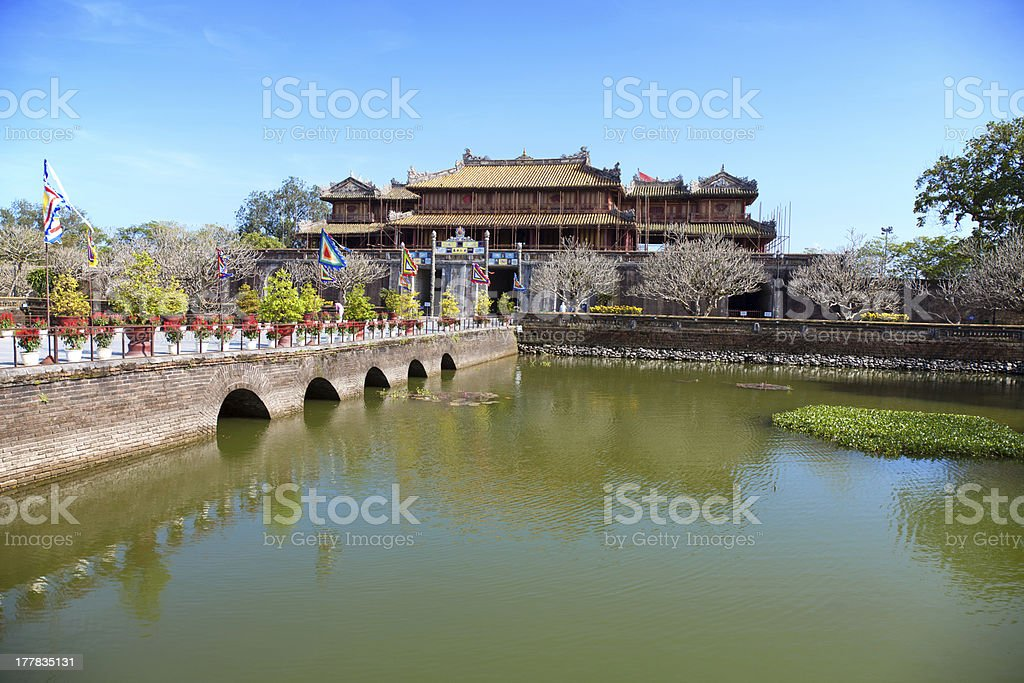 Forbidden city Hue, Vietnam stock photo
